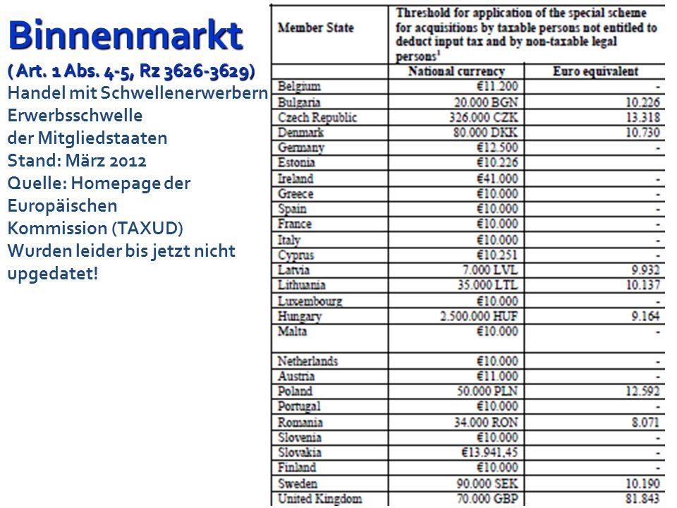 Binnenmarkt ( Art. 1 Abs.