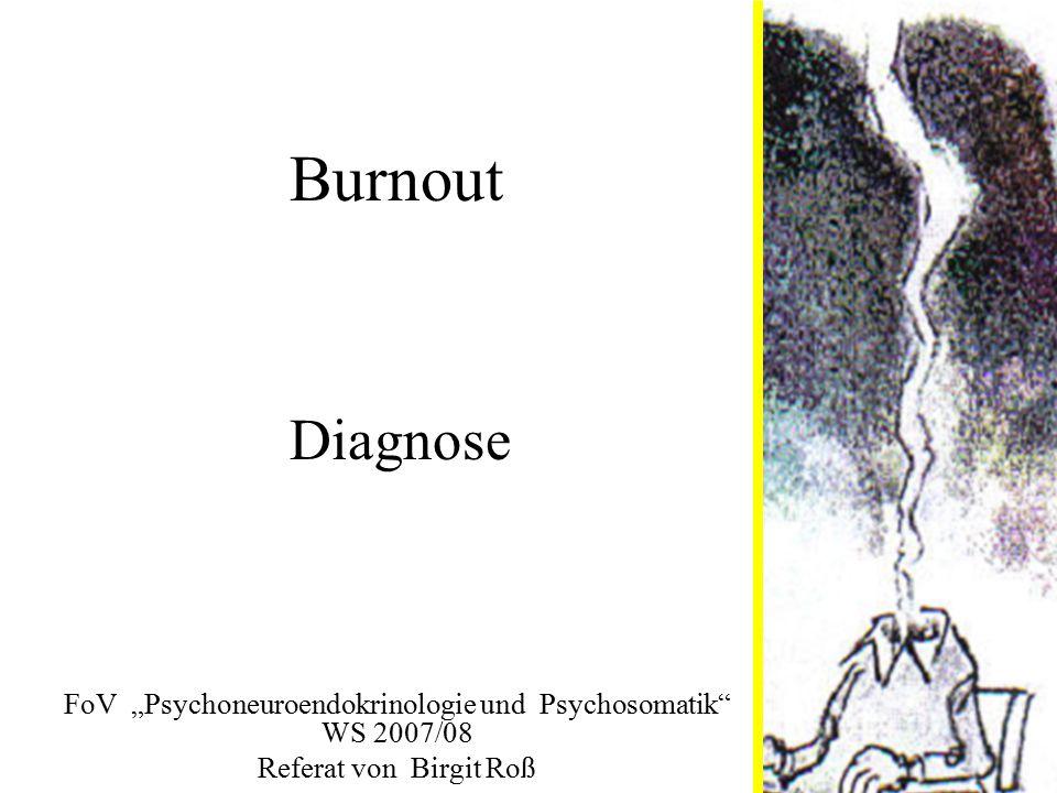 """FoV """"Psychoneuroendokrinologie und Psychosomatik WS 2007/08"""