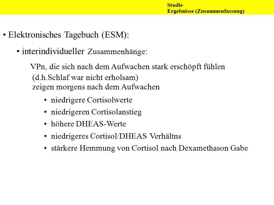 Elektronisches Tagebuch (ESM): interindividueller Zusammenhänge: