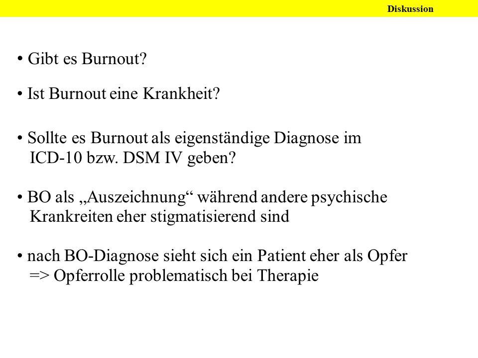Gibt es Burnout Ist Burnout eine Krankheit
