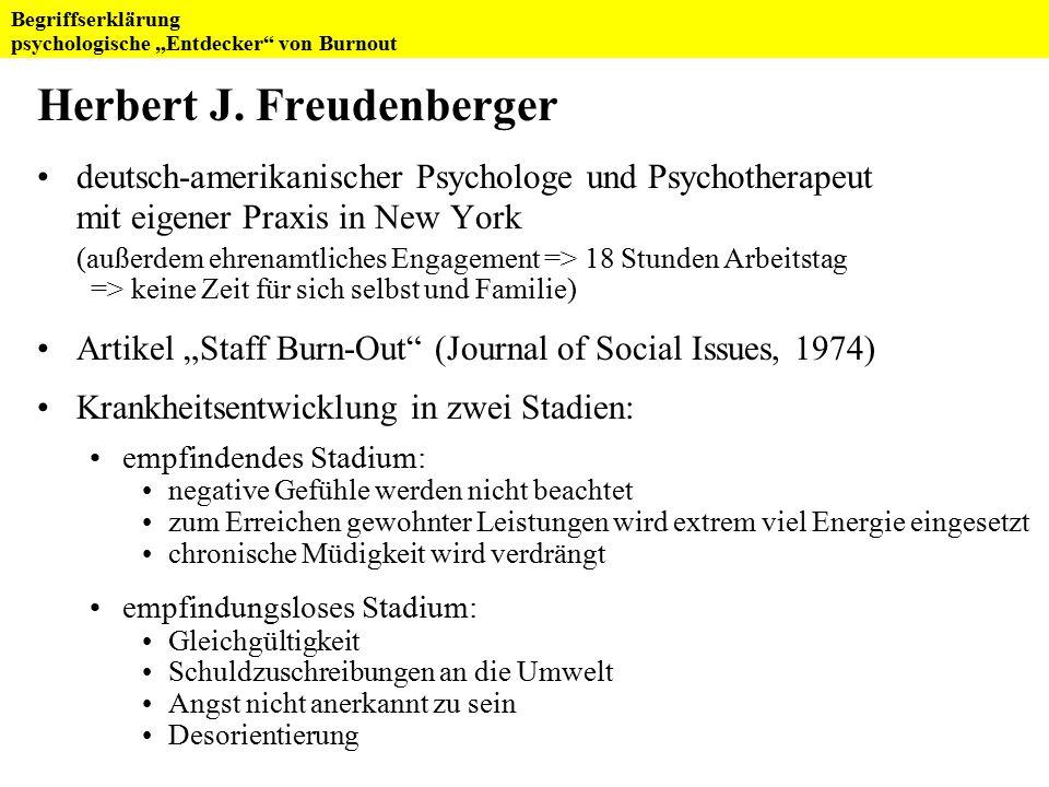 Herbert J. Freudenberger