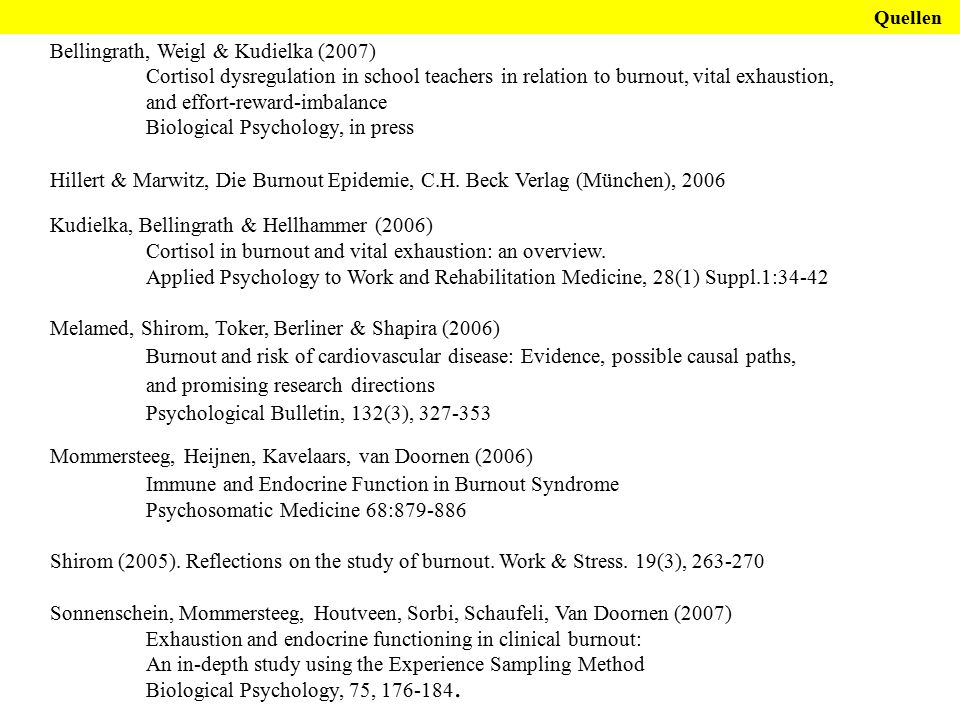 Bellingrath, Weigl & Kudielka (2007)