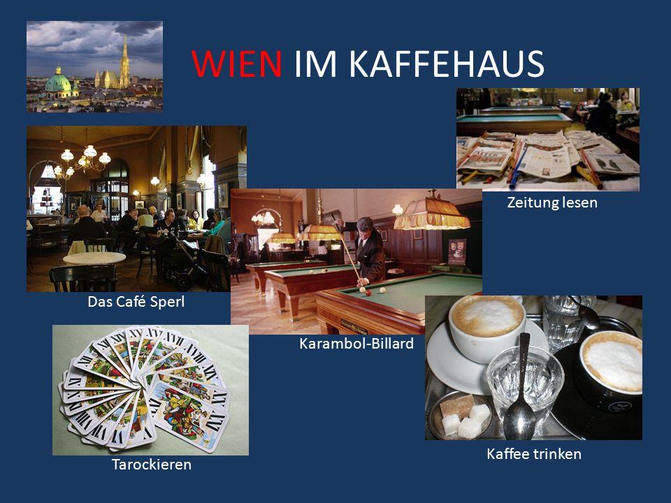WIEN IM KAFFEHAUS Zeitung lesen Das Café Sperl Karambol-Billard