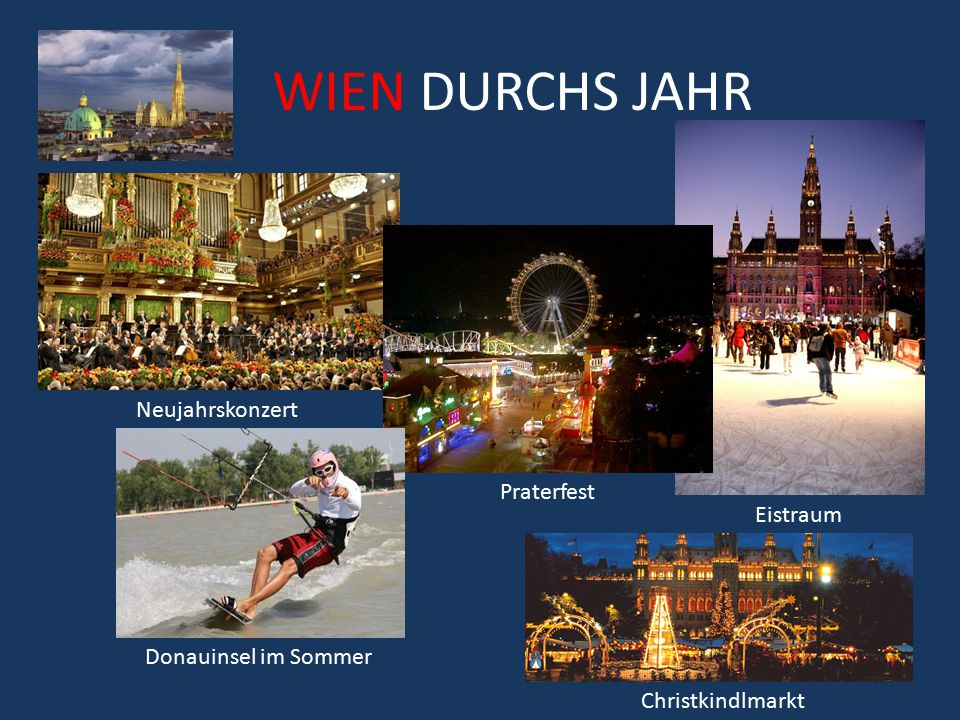 WIEN DURCHS JAHR Neujahrskonzert Praterfest Eistraum