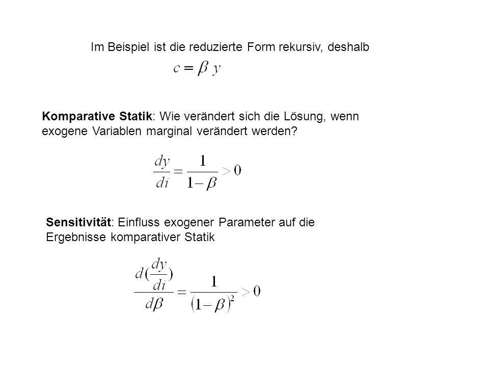 Im Beispiel ist die reduzierte Form rekursiv, deshalb