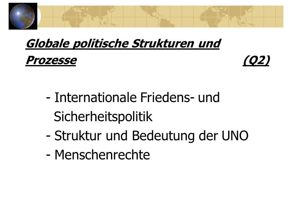 - Internationale Friedens- und Sicherheitspolitik