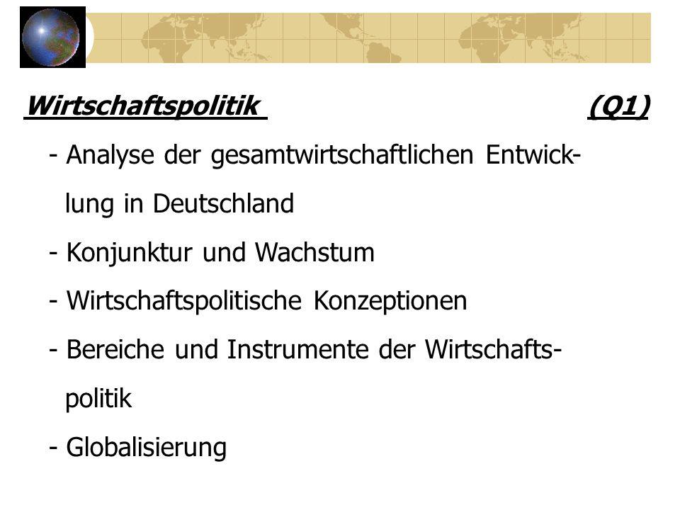 Wirtschaftspolitik (Q1)