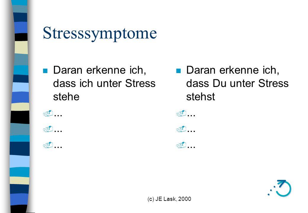 Stresssymptome Daran erkenne ich, dass ich unter Stress stehe ...