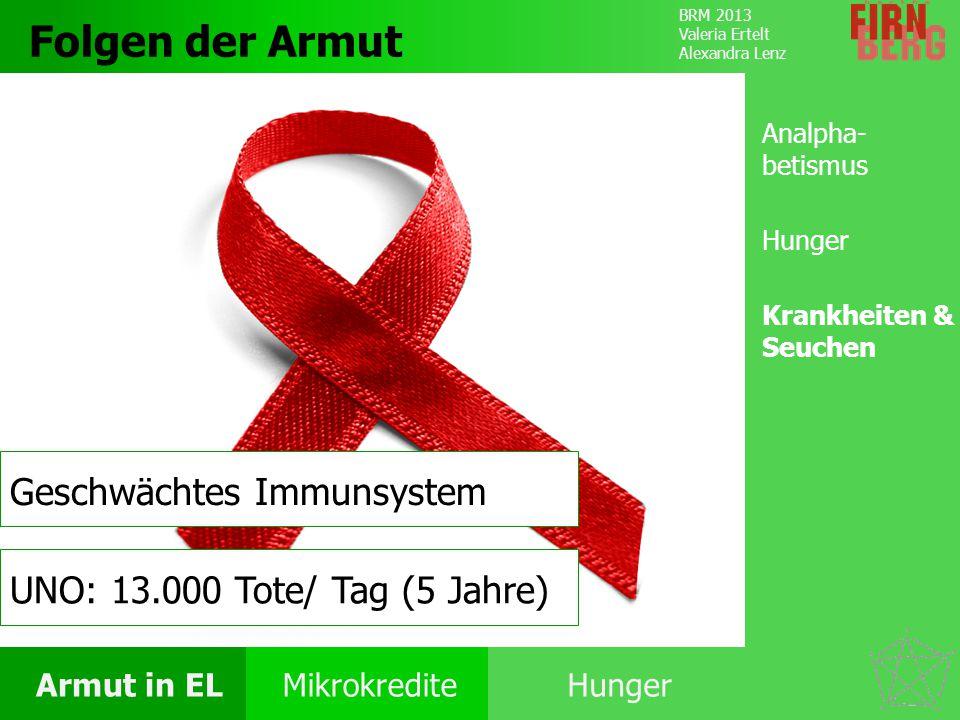 Folgen der Armut Geschwächtes Immunsystem