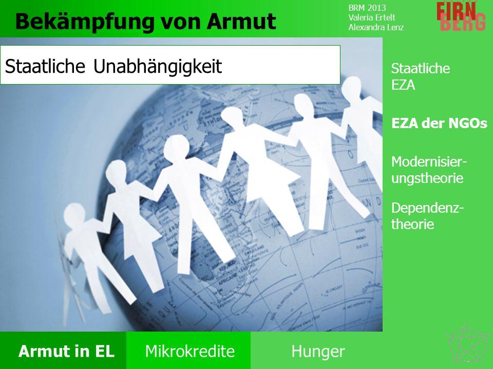 Bekämpfung von Armut Staatliche Unabhängigkeit Staatliche EZA