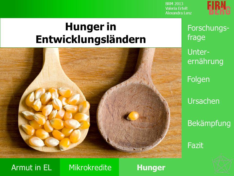 Hunger in Entwicklungsländern