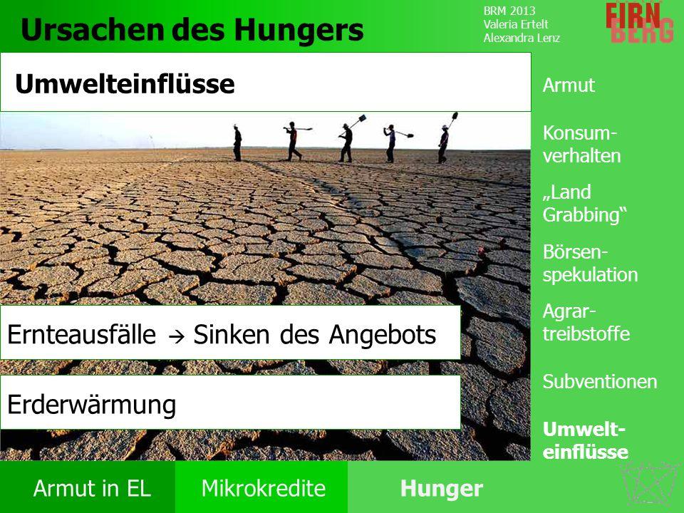 Ursachen des Hungers Umwelteinflüsse