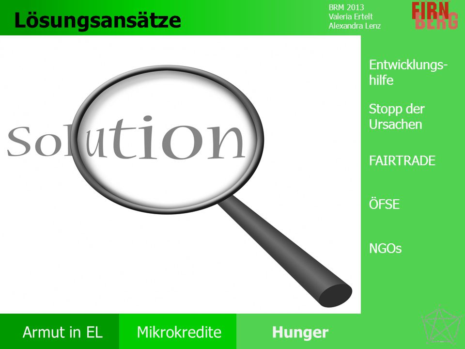 Lösungsansätze Entwicklungs-hilfe Stopp der Ursachen FAIRTRADE ÖFSE