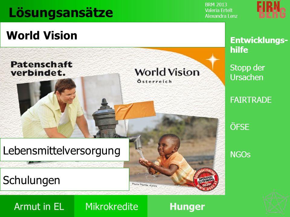 Lösungsansätze World Vision Lebensmittelversorgung Schulungen