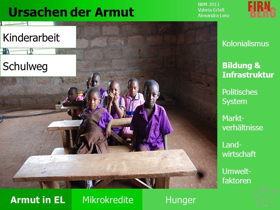 Ursachen der Armut Kinderarbeit Schulweg Ursachen Kolonialismus