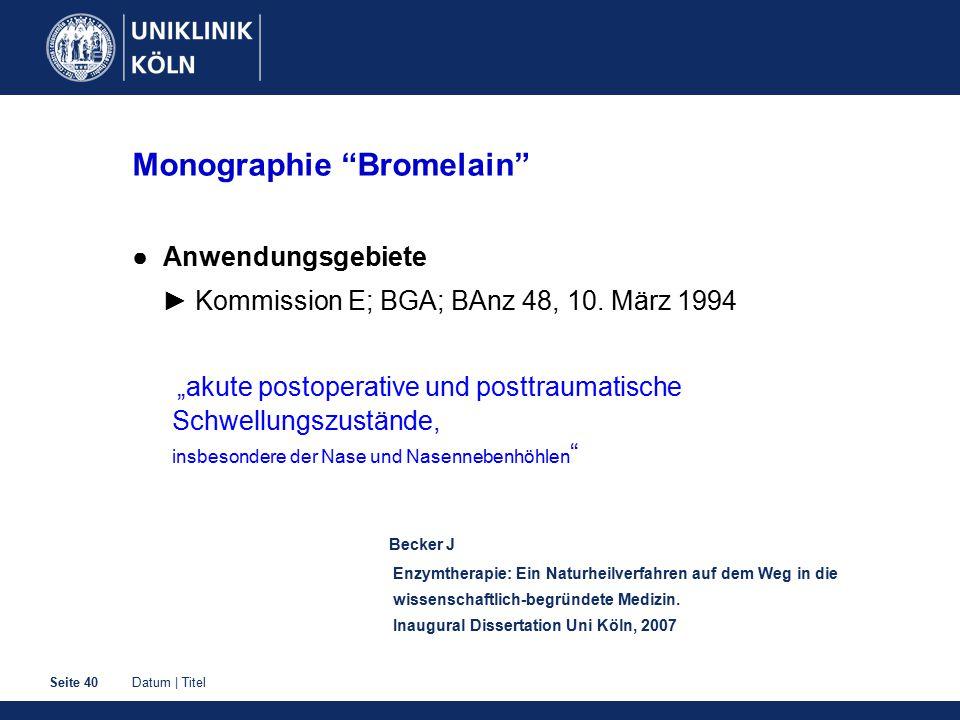 Monographie Bromelain
