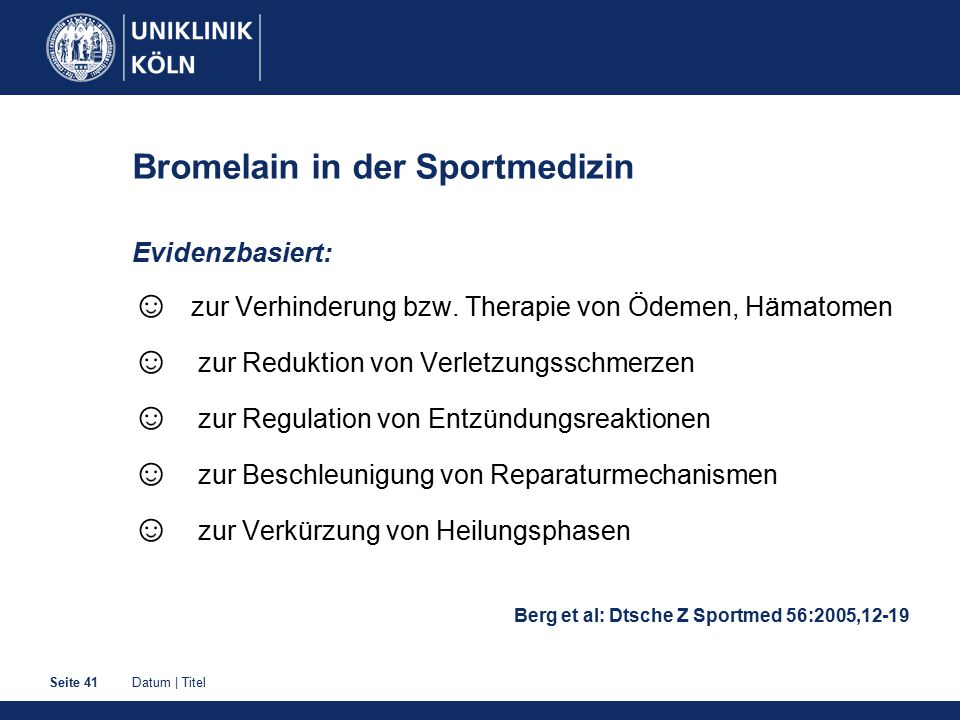 Bromelain in der Sportmedizin