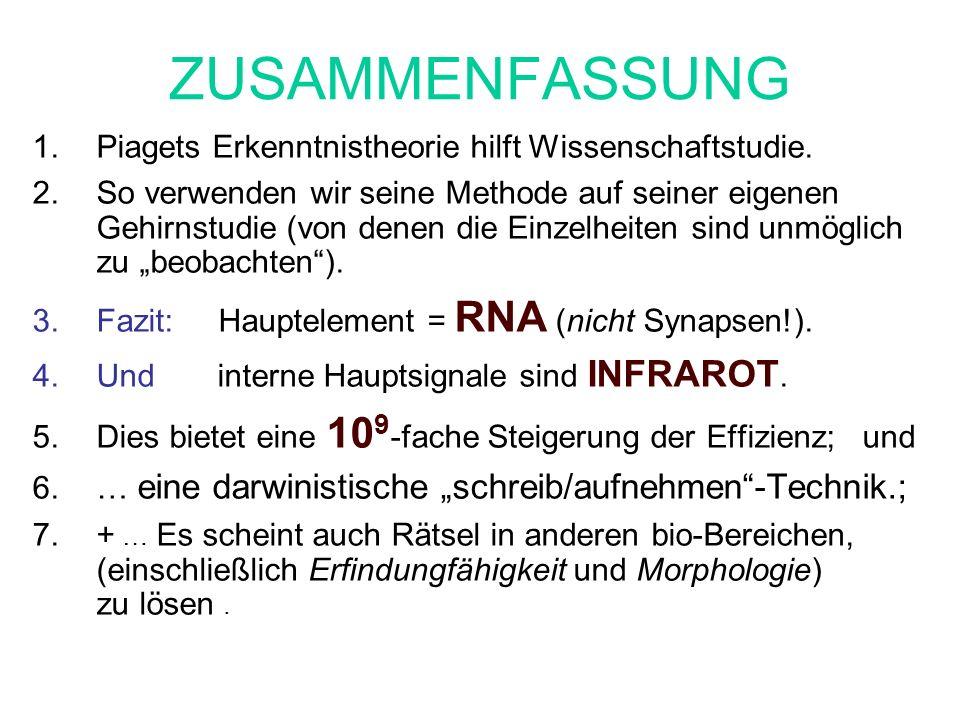 ZUSAMMENFASSUNG Piagets Erkenntnistheorie hilft Wissenschaftstudie.
