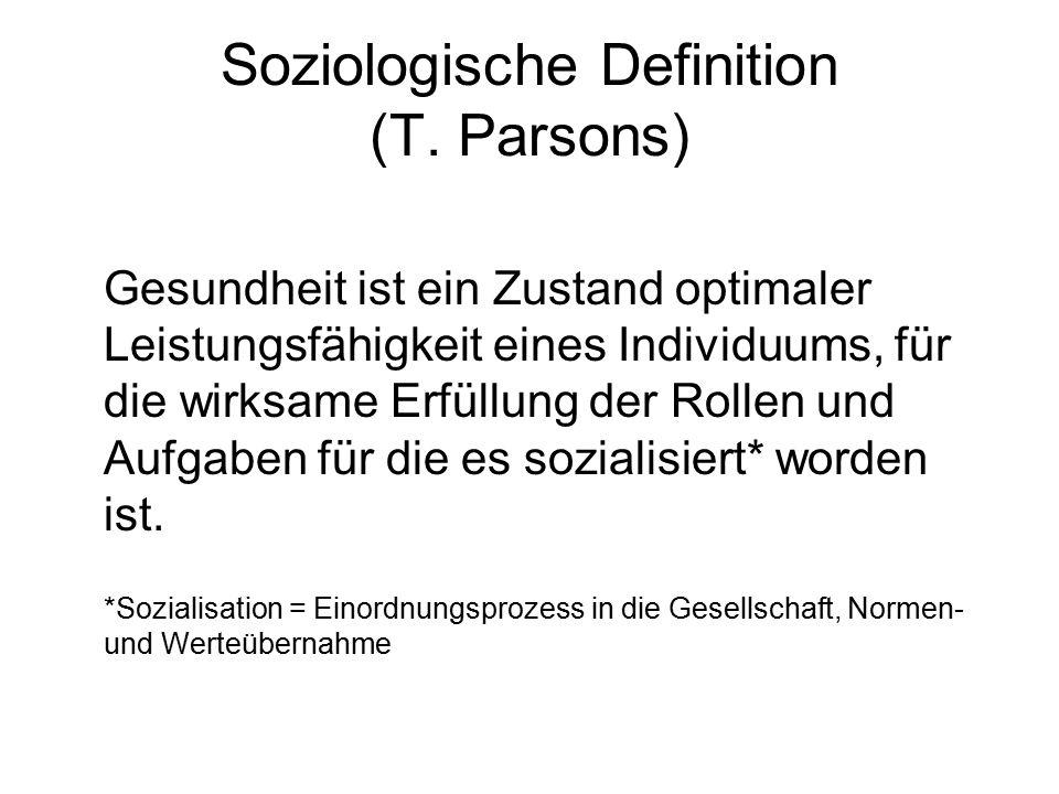 Soziologische Definition (T. Parsons)