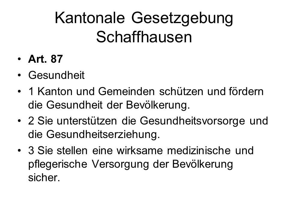 Kantonale Gesetzgebung Schaffhausen
