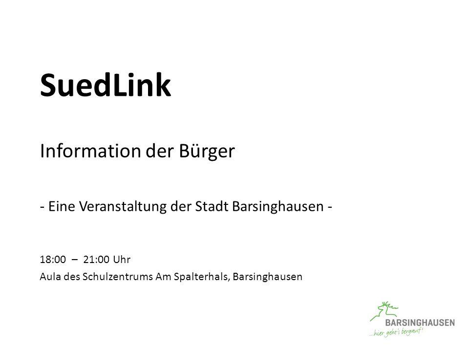 SuedLink Information der Bürger