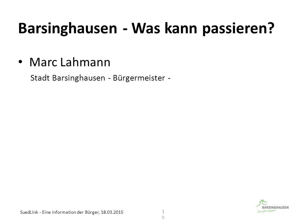 Barsinghausen - Was kann passieren