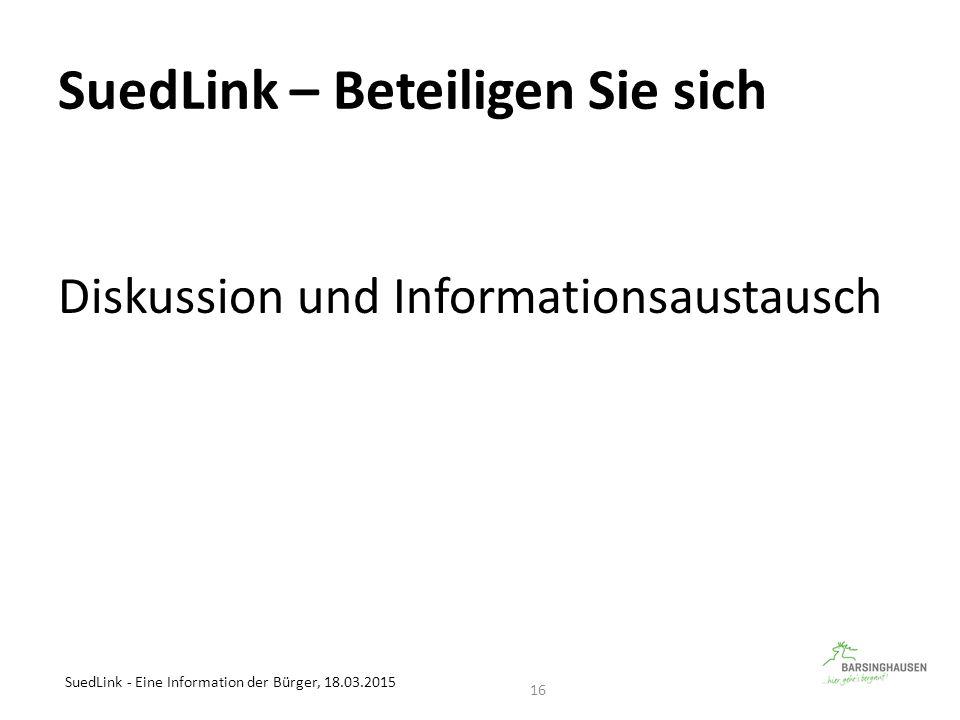 SuedLink – Beteiligen Sie sich