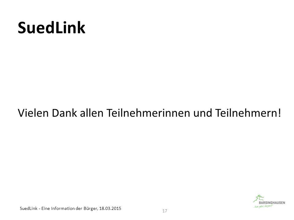 SuedLink - Eine Information der Bürger, 18.03.2015