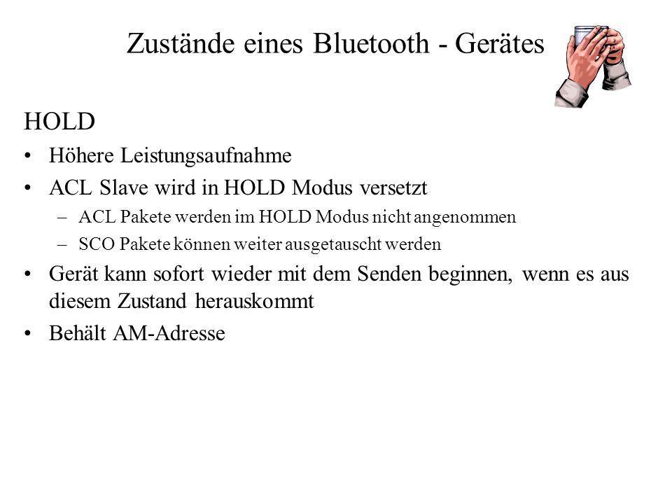 Zustände eines Bluetooth - Gerätes