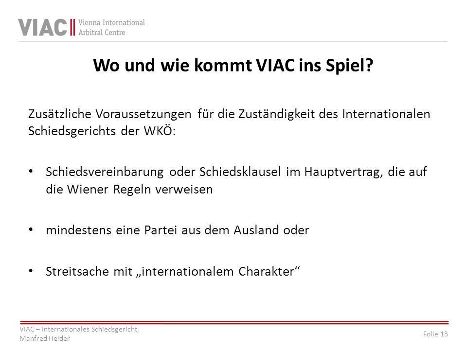 Wo und wie kommt VIAC ins Spiel