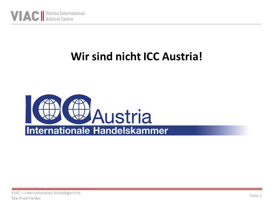 Wir sind nicht ICC Austria!