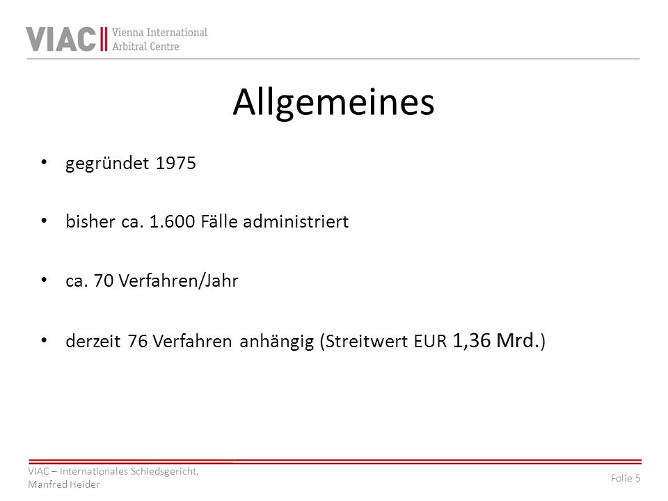 Allgemeines gegründet 1975 bisher ca. 1.600 Fälle administriert