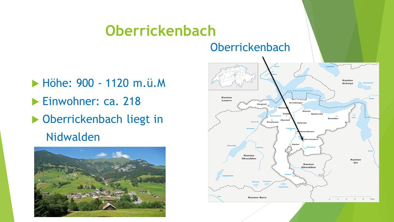 Oberrickenbach Oberrickenbach Höhe: 900 - 1120 m.ü.M