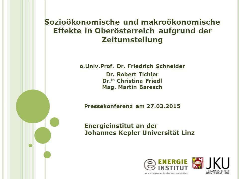 o.Univ.Prof. Dr. Friedrich Schneider