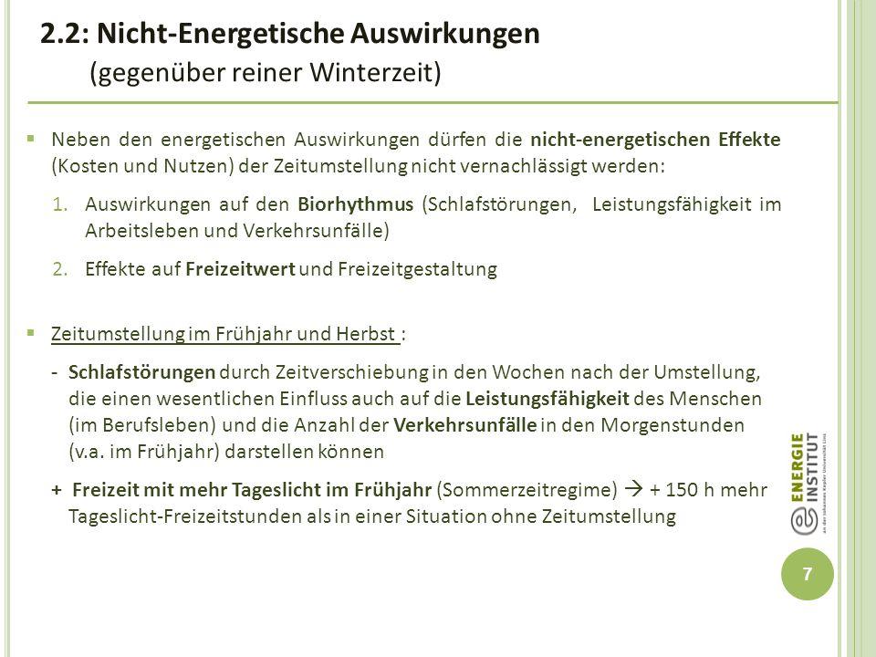 2.2: Nicht-Energetische Auswirkungen (gegenüber reiner Winterzeit)