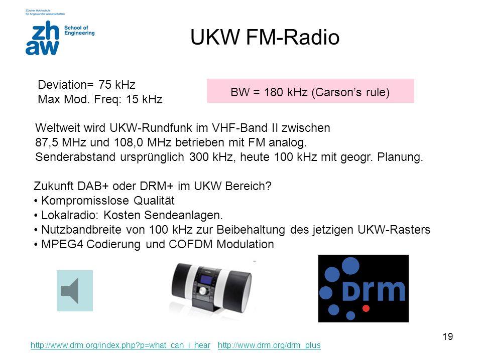 BW = 180 kHz (Carson's rule)