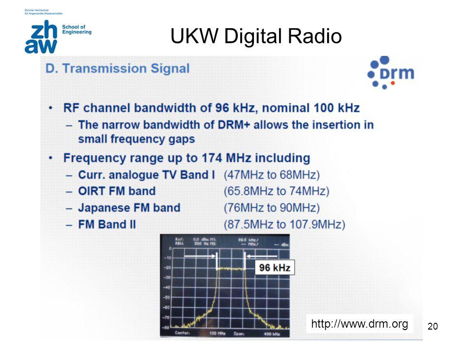 UKW Digital Radio http://www.drm.org