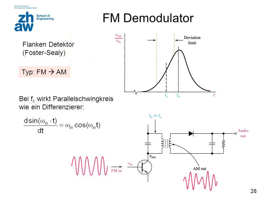 FM Demodulator Flanken Detektor (Foster-Sealy) Typ: FM  AM