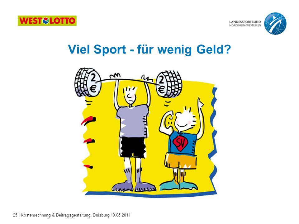 Viel Sport - für wenig Geld
