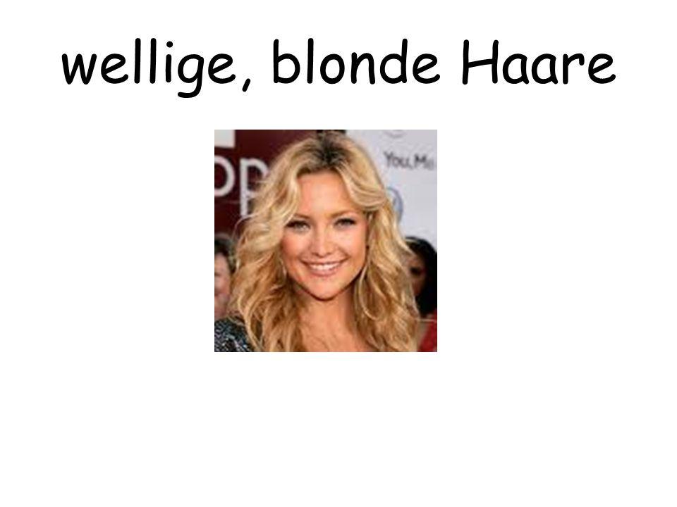 wellige, blonde Haare