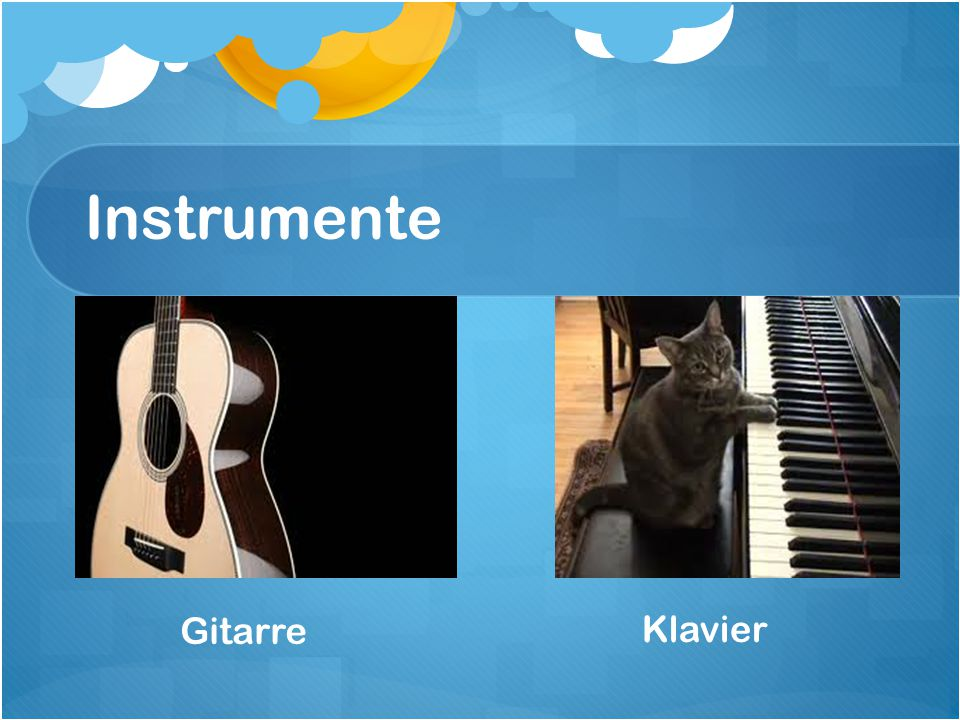 Instrumente Gitarre Klavier