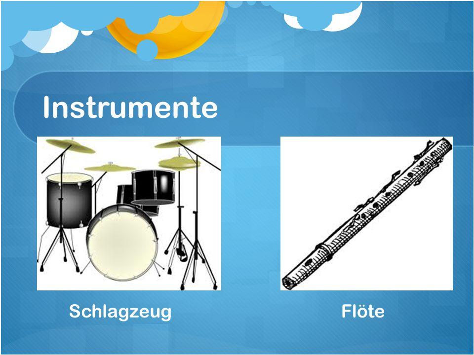 Instrumente Schlagzeug Flöte