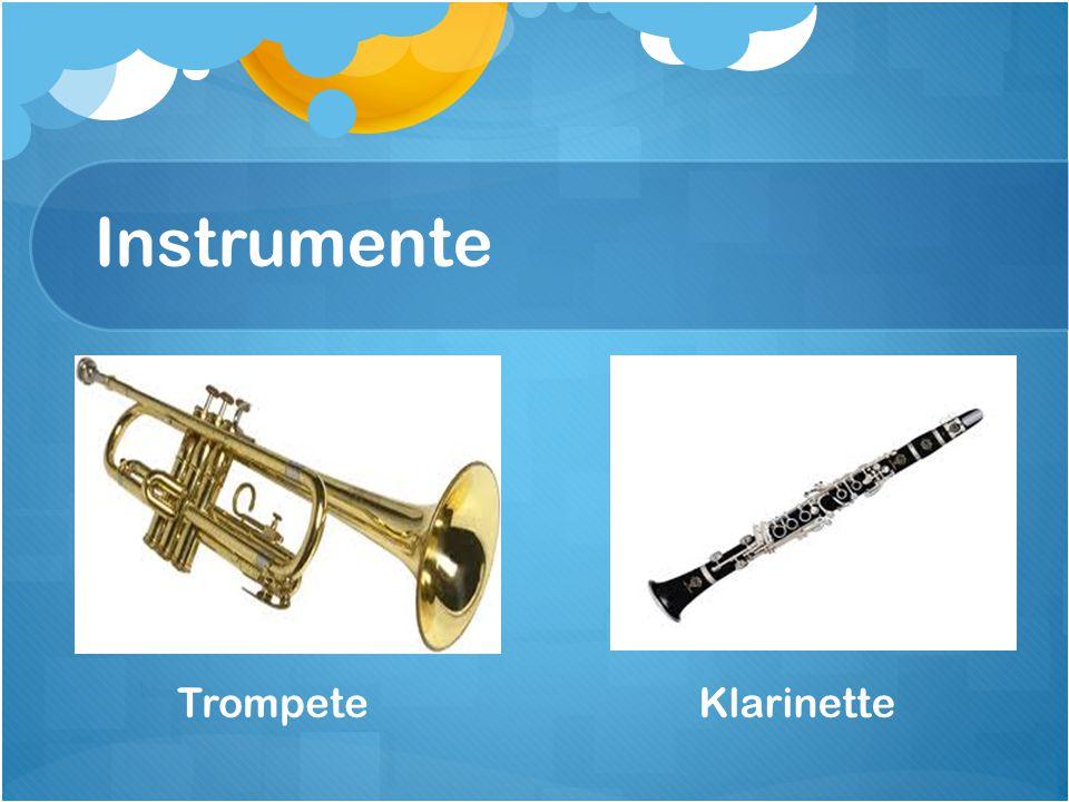 Instrumente Trompete Klarinette