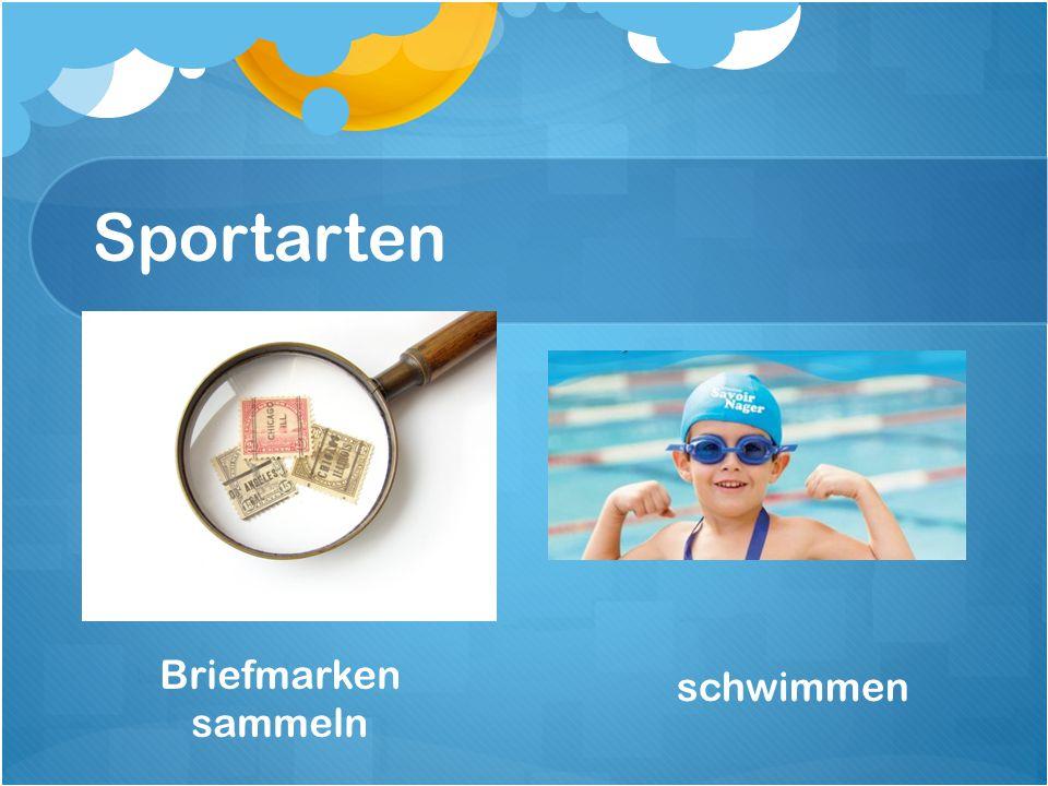 Sportarten Briefmarken sammeln schwimmen