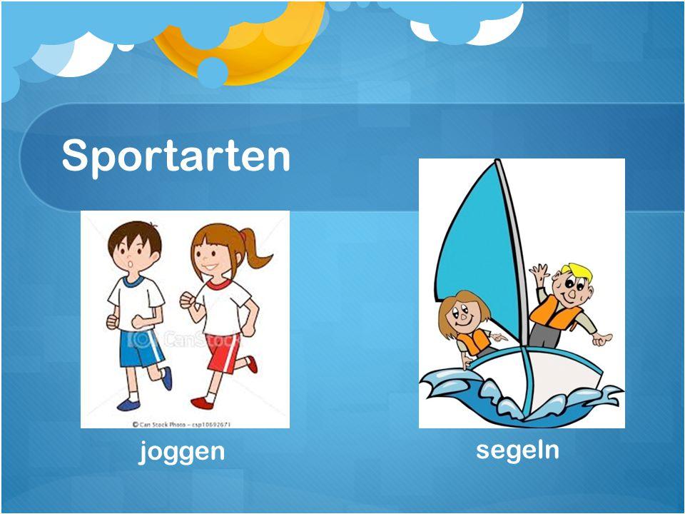 Sportarten joggen segeln