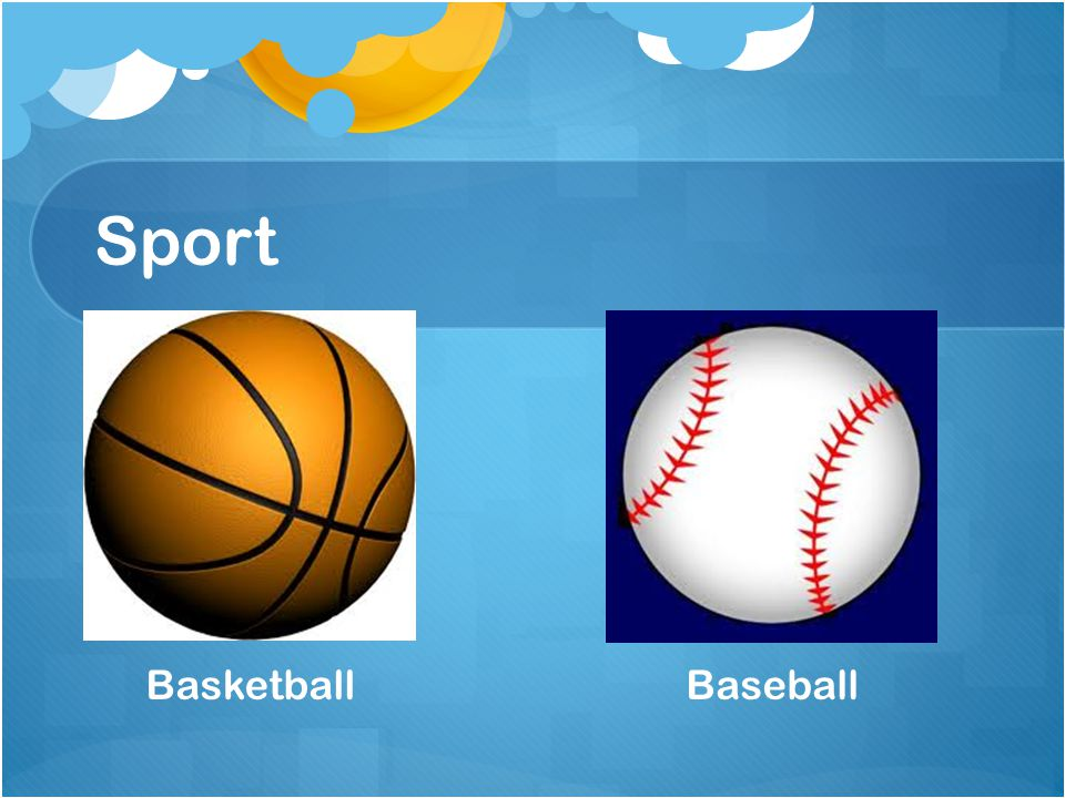Sport Basketball Baseball