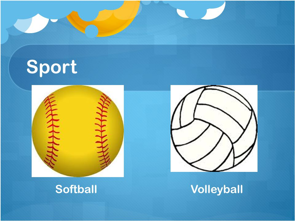 Sport Softball Volleyball