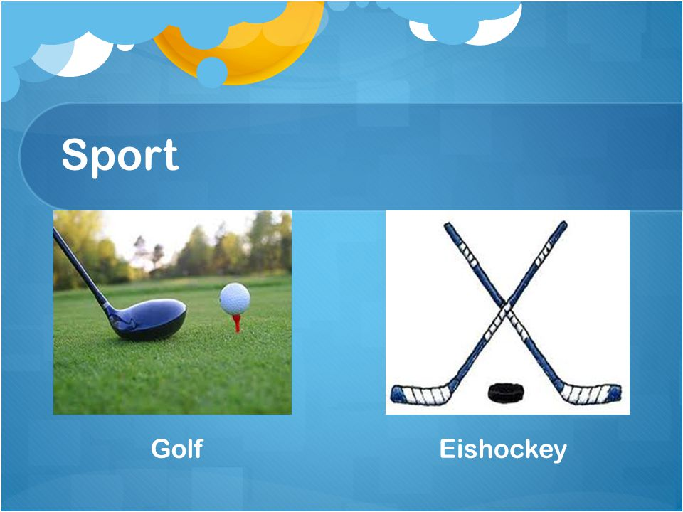 Sport Golf Eishockey