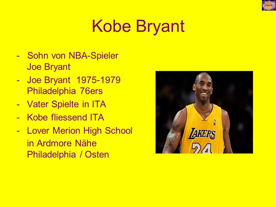 Kobe Bryant - Sohn von NBA-Spieler Joe Bryant