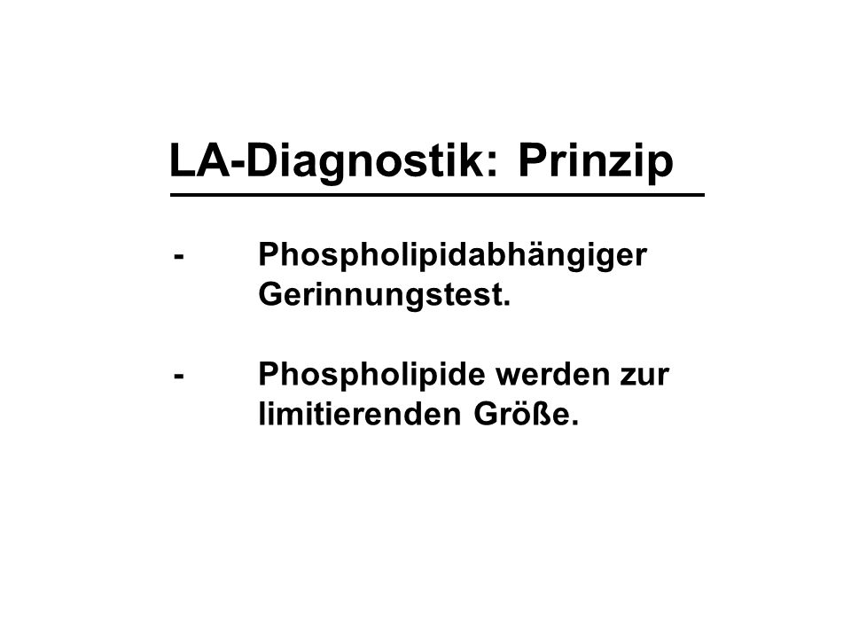 LA-Diagnostik: Prinzip